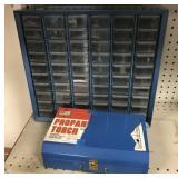 Propane torch and organizer box