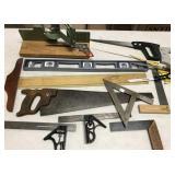 Angles, saws & miter box