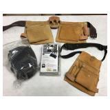 Tool belt, back support & knee pads.