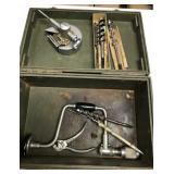 Wood bits, tool box