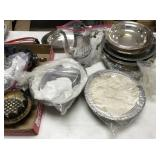 Miscellaneous lot of silver plate,  bicycle pump