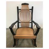 Adirondack style rocking chair