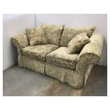 Upholstered Green love seat