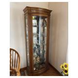 Modern Jasper Cabinet oak curio cabinet