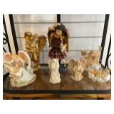 7 angel figures & music boxes