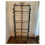 Metal & brass bakers rack