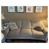Quality upholstered three cushion sofa by Schnadig
