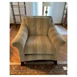Pair upholstered armchairs by Schnadig