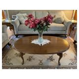 Queen Anne coffee table and vase