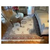 Machine made area rug