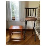 Tall chair and stool