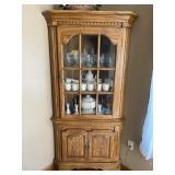 Quality modern oak corner cabinet