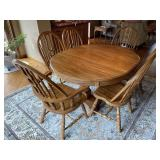 Modern quality oak double pedestal dining table