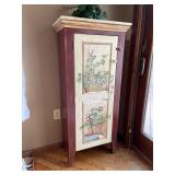 Hand painted country style one door cabinet