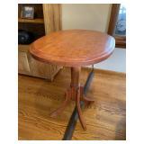 Pedestal lamp table
