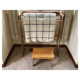 Quilt rack and small stool