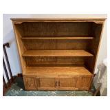 Quality made oak open book case