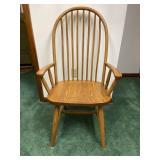 Modern oak  Windsor style arm chair