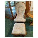 Gliding rocker and footstool