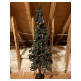 60 inch tall Christmas tree with ornaments