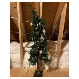4 foot Christmas tree with ornaments