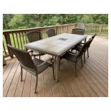 High quality tile top patio table with chairs