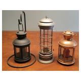 Oil lamp and candleholders