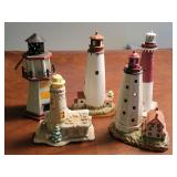 5 lighthouse statues