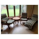 4 pc redwood patio set