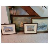 4 ocean ship prints