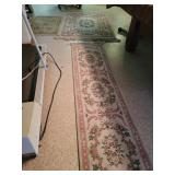 2 area rugs and runner
