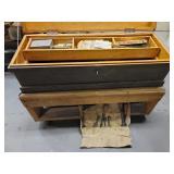 Wood tool box and tools
