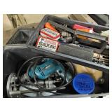 Makita step drill with accessories & toolbox
