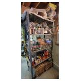 Shelving unit & contents, wire, hardware,