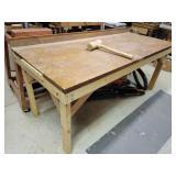 Wooden workbench & mallet