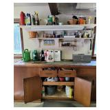Contents of cabinet & shelves