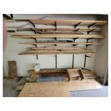 Wood in garage