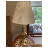 Pair quality brass table lamps