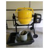 Cement mixer, vats & trowels