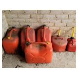 6 gasoline cans