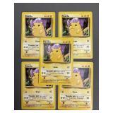 5 Pokemon Base Set Pikachu