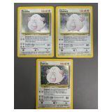 Pokemon Base Set 2 Chansey Holograms lot of 3