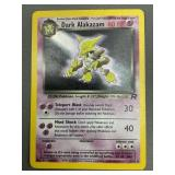 Pokemon Team Rocket Dark Alakazam Hologram