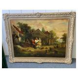 Signed Cameron framed Oil on canvas