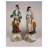 2 Early Porcelain Figural vases