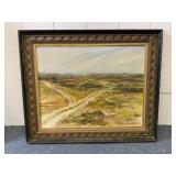 Framed B. Welch oil on canvas
