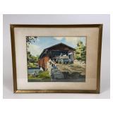 Bogerts Bridge Allentown PA Watercolor