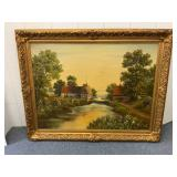 Large Framed Couldwell oil on canvas