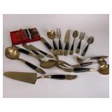 Vintage Brass Buddha flatware service for 12
