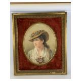 Circa 1880 Alice Rashaw watercolor portrait
